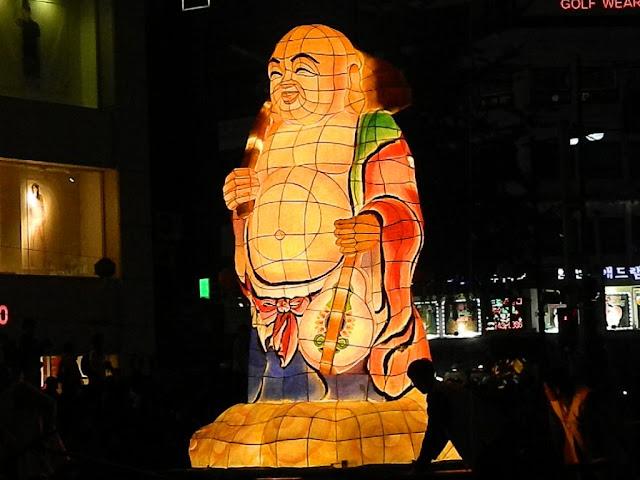 Laughing Buddha lantern