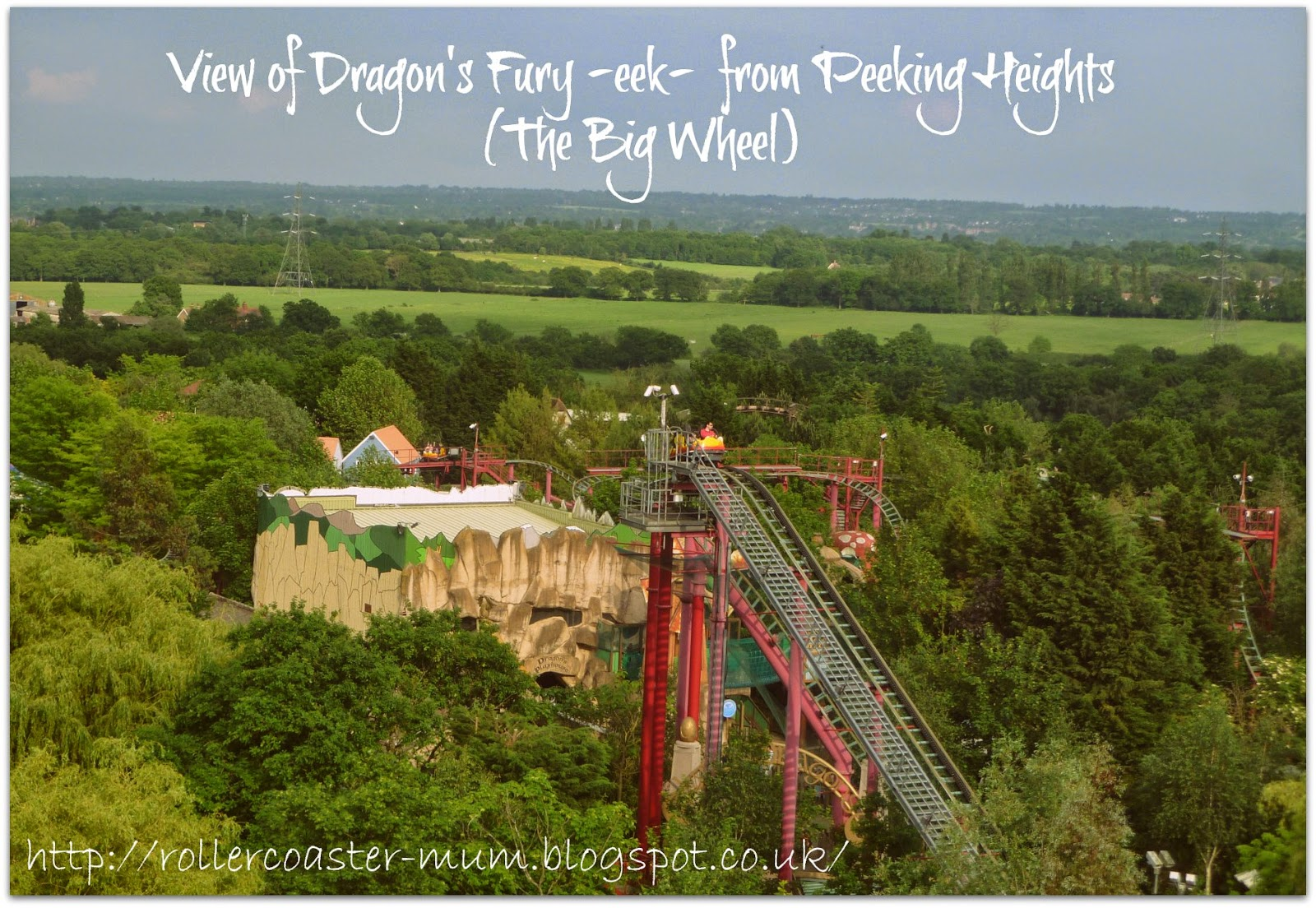 Theme Parks, Chessington, Dragon's Fury rollercoaster