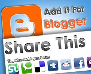 cara membuat tombol share di bawah postingan