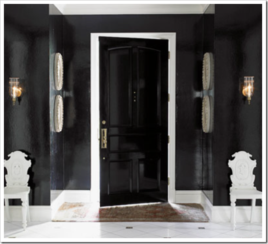 Through The French Eye Of Design The Glamour Of Black Gloss