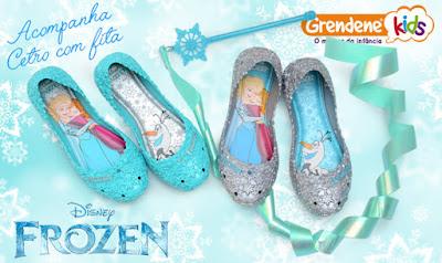 Sapatilha Frozen com cetro!