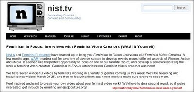 NIST TV Feminists video page