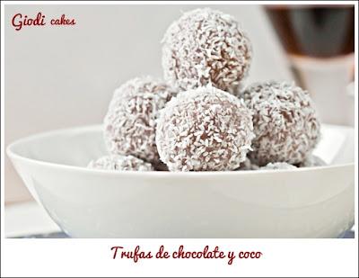 Trufas chocolate y coco