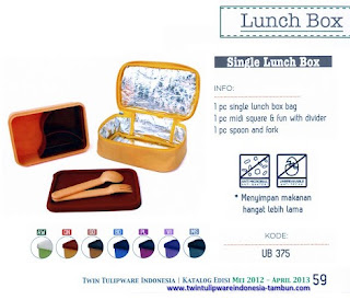 Info & Harga Twin Tulip Tulipware 2014 : Single Lunch Box - Maestro