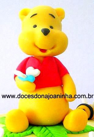 Ursinho Pooh modelagem para decorar Bolos