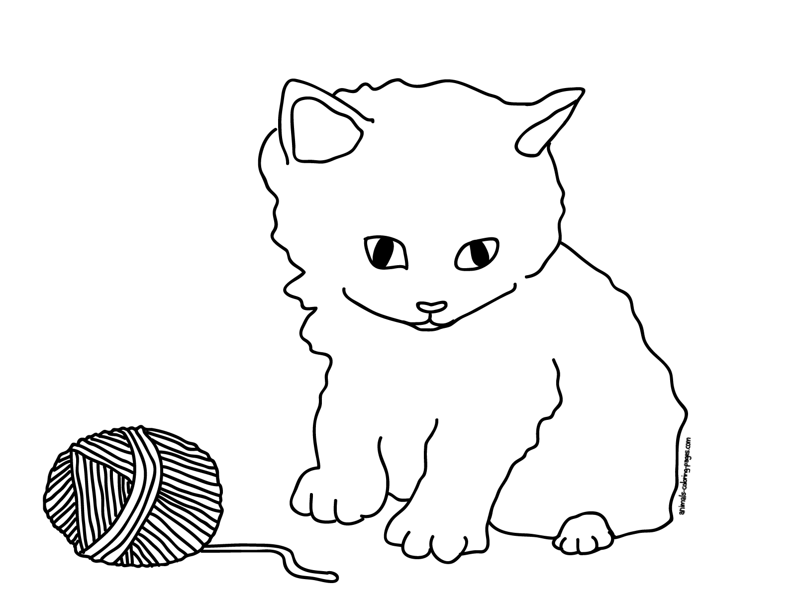 Coloring Pages Cats and Kittens Coloring Pages Free and