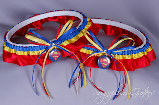 superman wedding garter