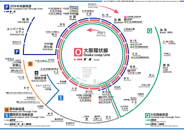 Osaka Loop Line Route Map