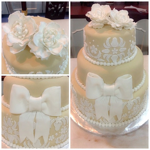 Cake With Fondant Lace : Kouture Cakes: Lace Fondant Cake Theme!