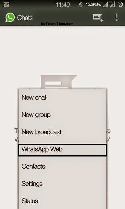 Chat in Whatsapp From Pc (WhatsApp's New Feature) mobile demo -1