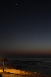 הירח נוגה וצדק 18/6/2015