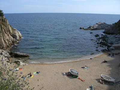 Es Codolar beach in Tossa de Mar