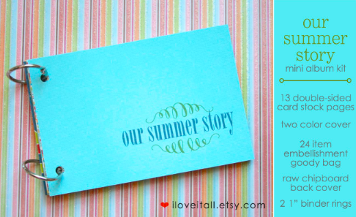 Our Summer Story Mini Album from iloveitall.etsy.com | Monika Wright