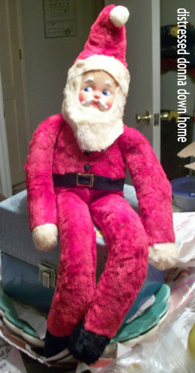 Thrift stores, vintage, Christmas, vintage plush Santa