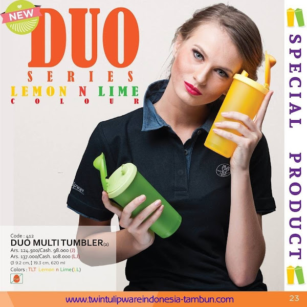 New Duo Series : Lemon n Lime Colour, Duo Multi Tumbler