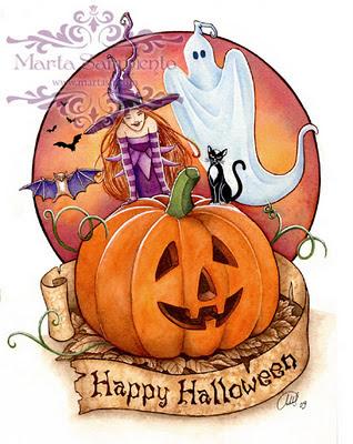 ilustracion marta sarmiento halloween