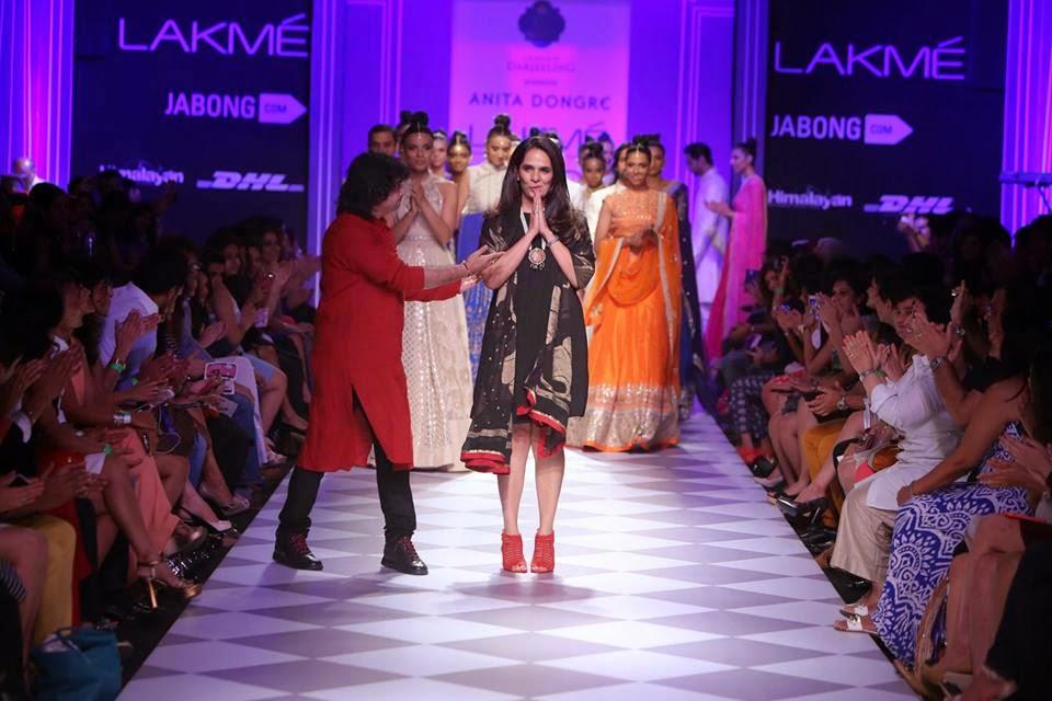 Indian Fashion Designer Anita Dongre on the Ramp at Lakme Fashion Week