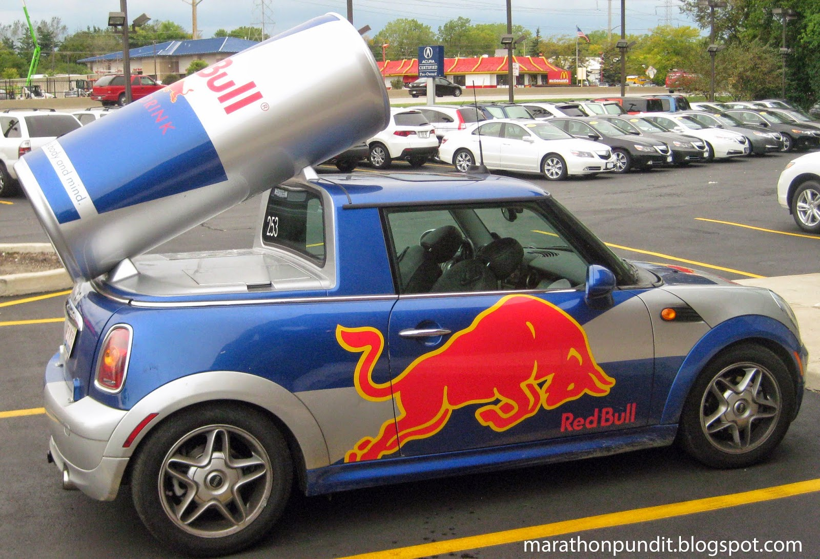 Marathon Pundit Photo Red Bull Mini Cooper