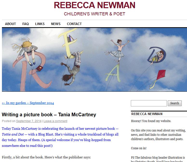 http://rebeccanewman.net.au/2014/09/07/writing-a-picture-book/