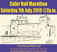 Half-Marathon in S.Tipperary... Sat 7th July
