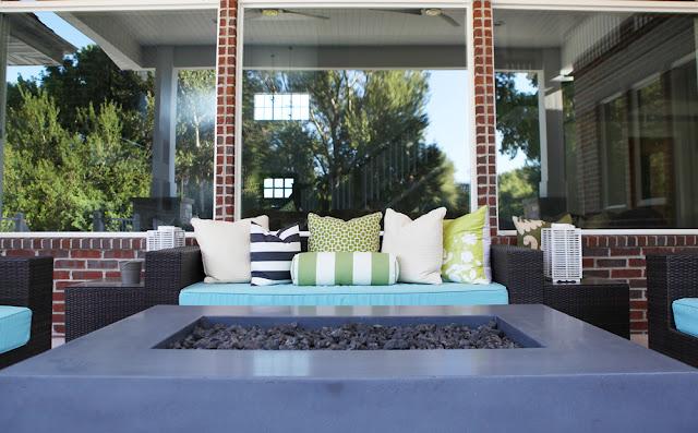 Brooke Jones Designs Modern Outdoor Patio Space Restoration Hardware Fire Pit