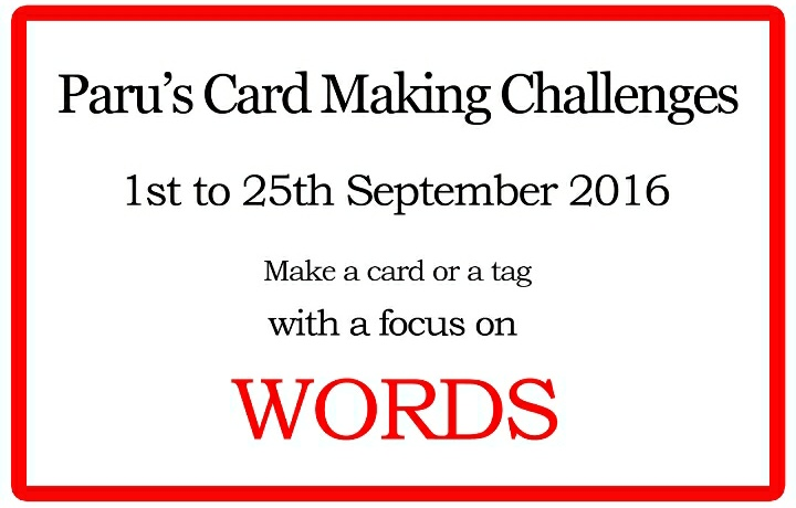 Paru crad making september challenge