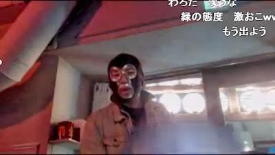 頭を下げて謝罪する力也とそれを見ている横山緑 店長 「(出入り禁止)そ...  力也 居酒屋で店