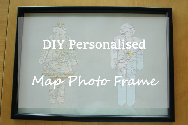 DIY Personalised Map Photo Frame
