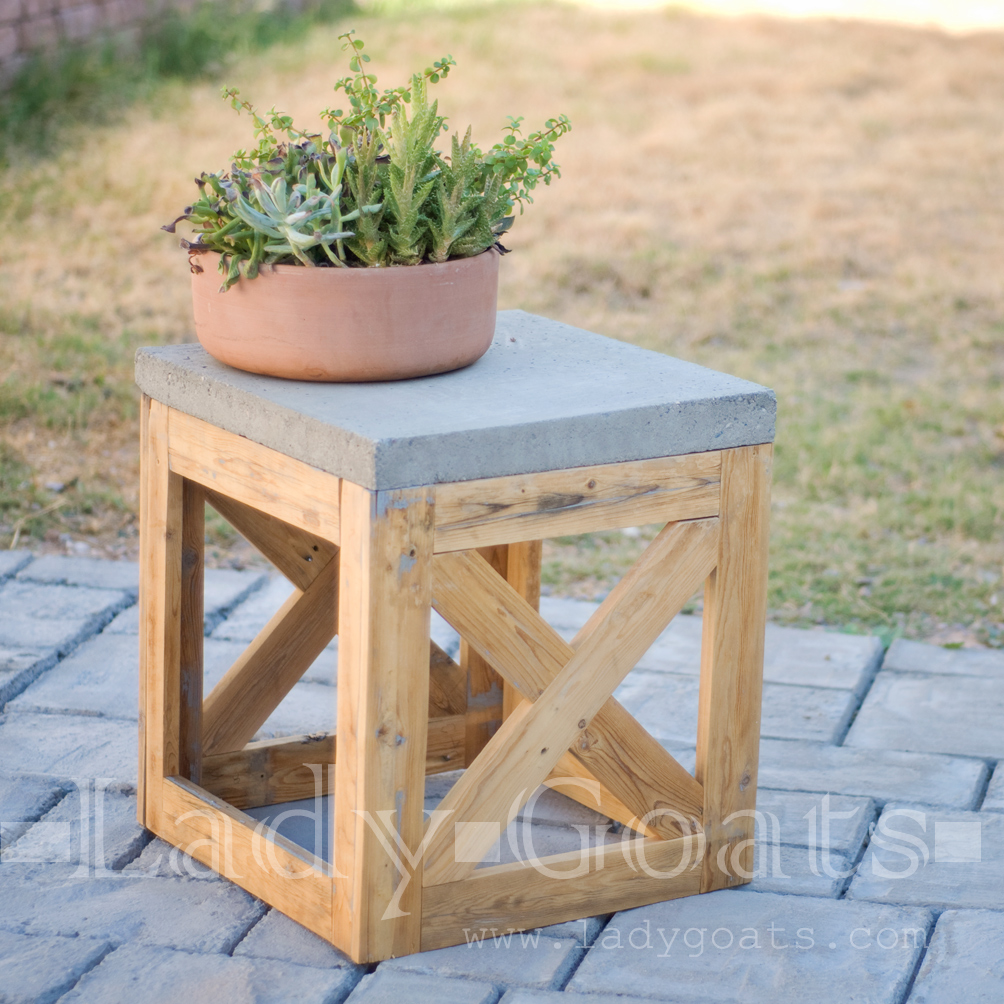 Lady goats diy stool or table
