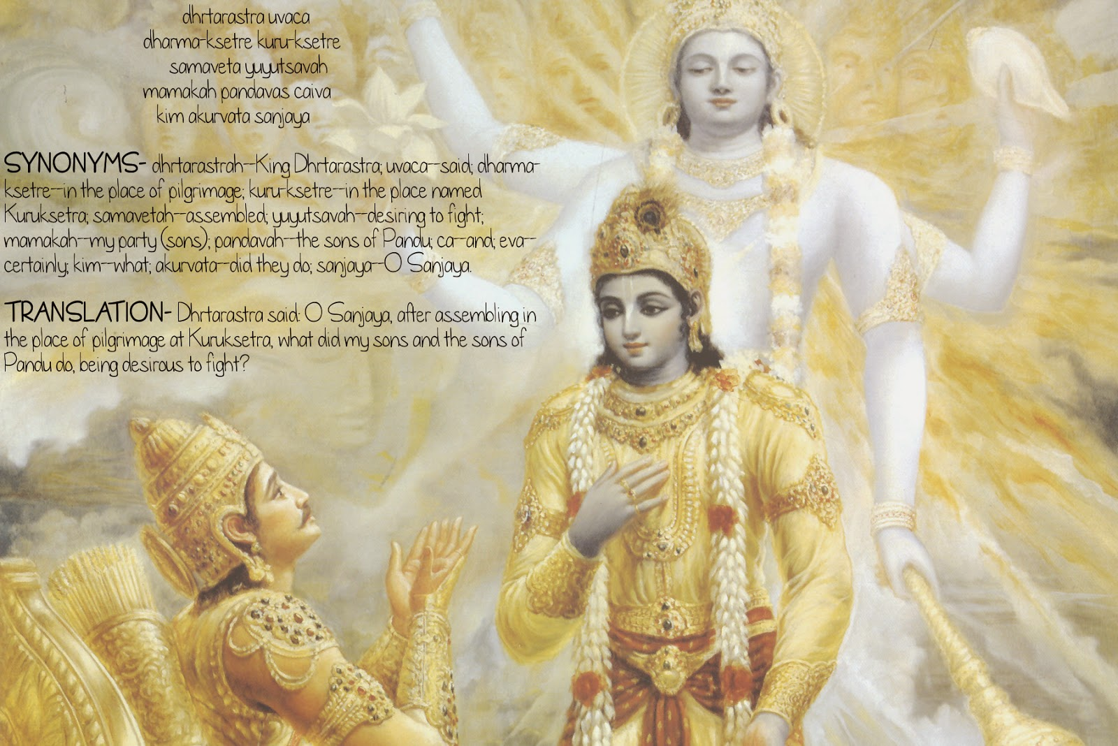 Bhagwat Gita as it is- Observing the Armies on the Battlefield of Kuruksetra TEXT 1