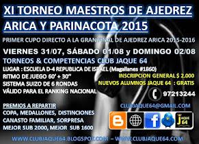 XI TORNEO DE MAESTROS AJEDREZ ARICA Y PARINACOTA 2015