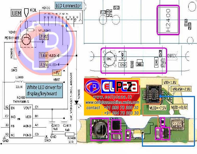 NOKIA 1100 and 1110 SOLUTION (ringer,bazer,carmode,charging,speker,on