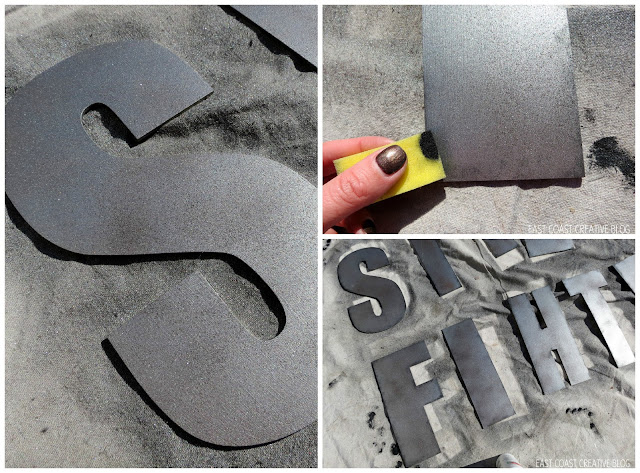 creating a faux metal look with paint