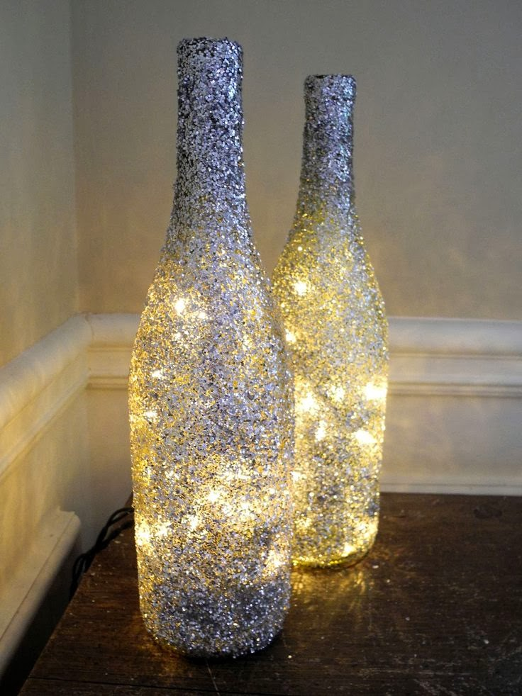 wrapped In It: DIY: Wine Bottle Light