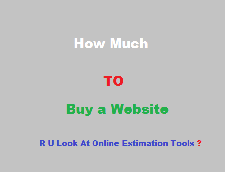 How Much Will You Buy My Website For? A Look At Online Estimation Tools
