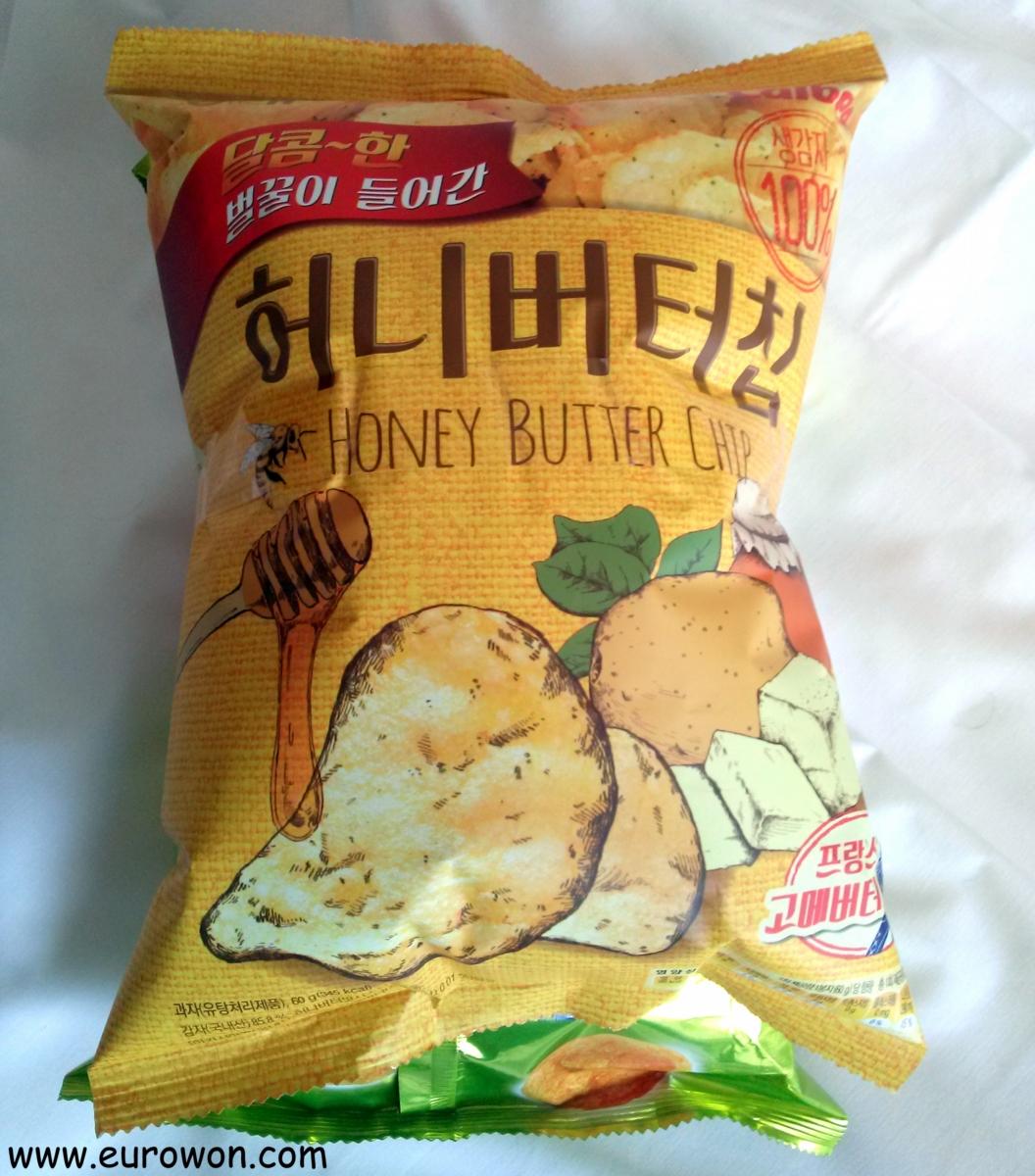 Patatas fritas con miel y mantequilla