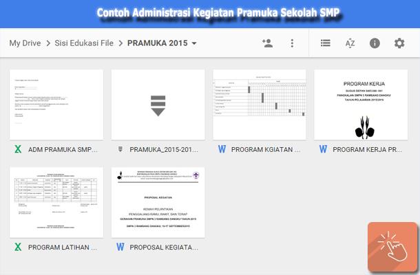 Contoh Administrasi Kegiatan Pramuka Sekolah SMP