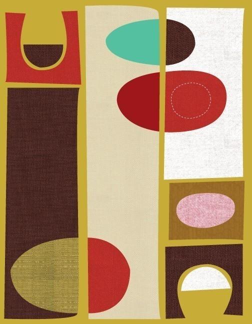 just a smidge mid century inspired art. Black Bedroom Furniture Sets. Home Design Ideas