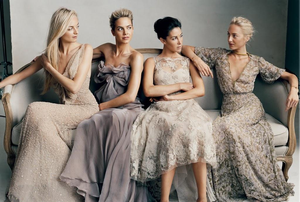 Fashion Beauty Glamour Wedding Neutral Bridesmaids Dresses