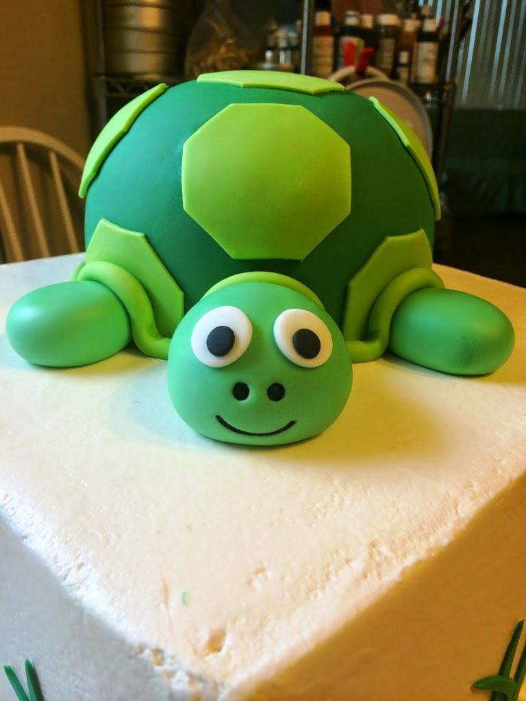 CookieDoh Turtle Birthday Cake