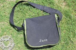 Pirate Messenger Bag with Applique Shark