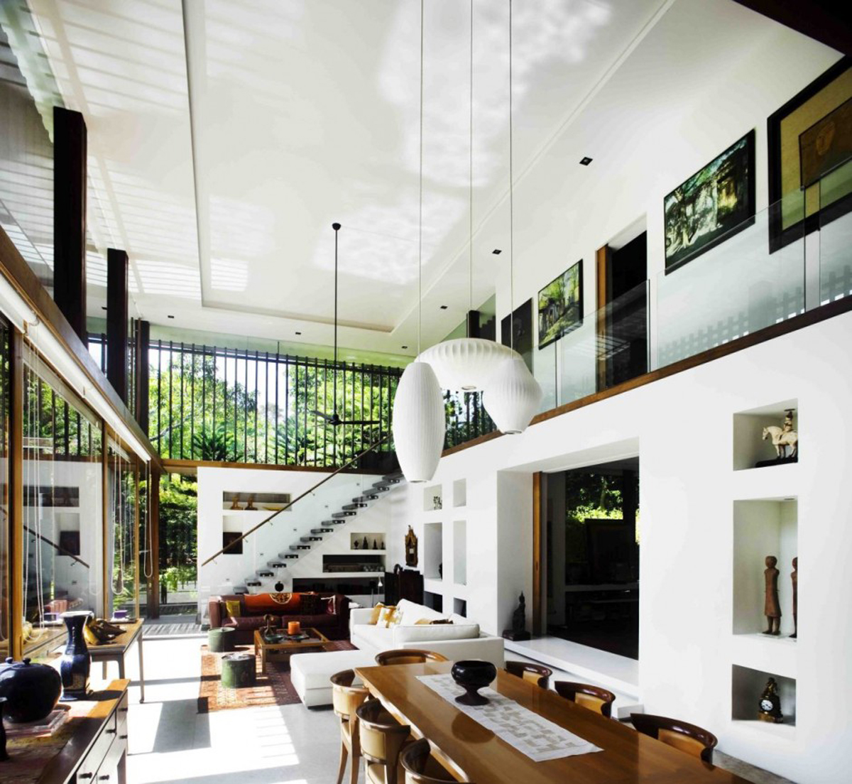 Modern dream house design with wonderful garden views the for Dream house plans with interior photos
