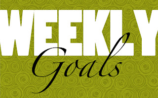 weekly goals, weekly goal setting
