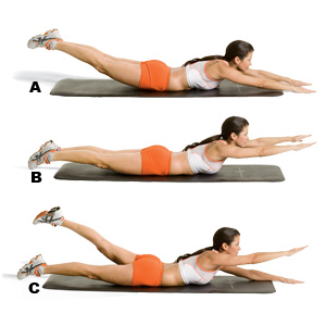 Back Arch Exercise For ABS http://lightpointlife.blogspot.com/2011/04/winning-workouts-lower-back.html