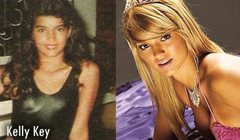 10 famosas antes e depois da fama De visual novo