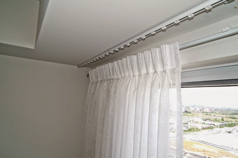 curtain pole from ceiling