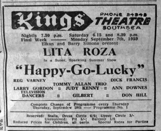 Lita Roza at the Kings