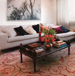 Tapete para sala ou copa com estilo moderno e aconchegante ao mesmo tempo
