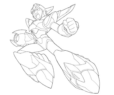 #23 Mega Man Coloring Page