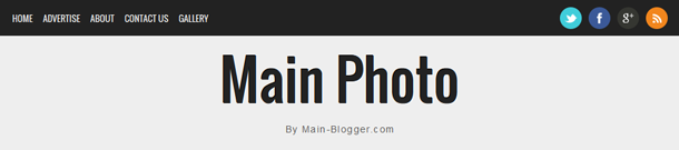 main photo blogger template